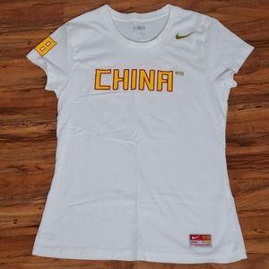 Nike womens 2008 Olympics China Tee size L